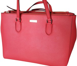 Kate Spade Leather Satchel in Fuchsia