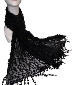 Black Paillette Evening Wrap / Scarf [ Roxanne Anjou Closet ]