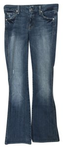 7 For All Mankind Denim Long Boot Cut Jeans-Medium Wash