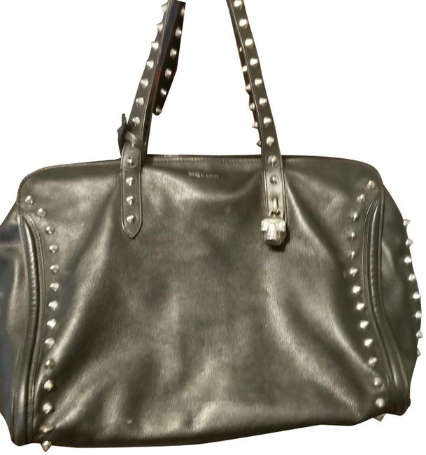 Item - Studded with Skull Lock and Keys. Serial No. 544433312916 Black Leather Tote