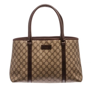 Gucci Tote in Brown and Beige Monogram