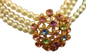 Other Pearl Necklace with Crystal Clasp