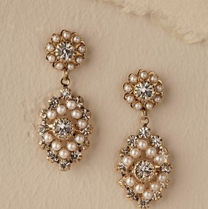 BHLDN Gold Accented In Pearls Courtship Earrings