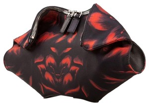 Alexander McQueen Embroidered Printed Holidays Night Out Date Night Black Red Clutch