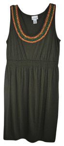 Motherhood Maternity Cotton Sleeveless Dress with Beaded Detail