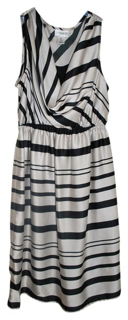mother Sleeveless Striped Maternity Dress with Ribbon Belt