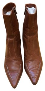 Cole Haan Genuine Leather Saddle Brown Boots