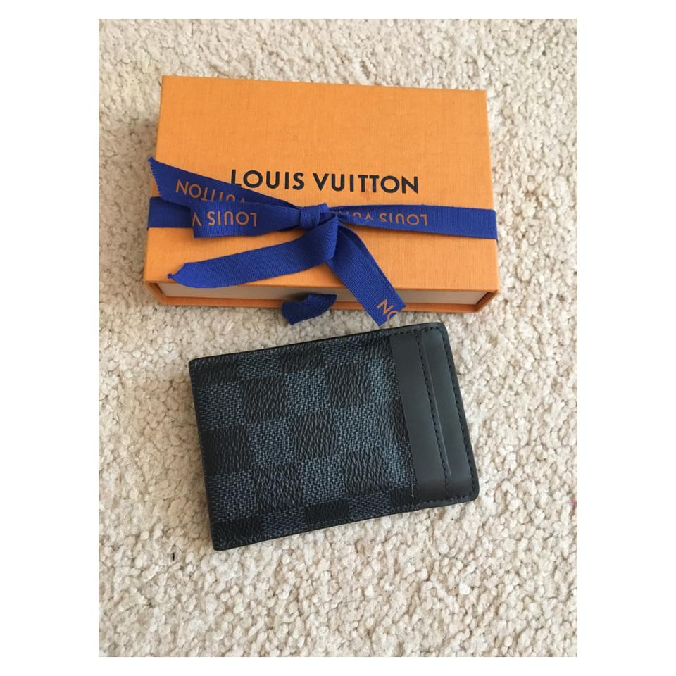 df7c350dc3 Louis Vuitton Damier Cobalt Card Holder Money Clip Wallet 31% off retail