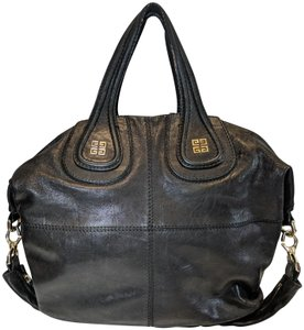 Givenchy Leather Nightengale Satchel in black