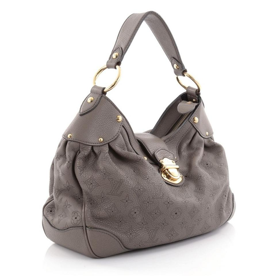722a74223406 Louis Vuitton Mahina Solar Handbag Pm Taupe Leather Hobo Bag - Tradesy