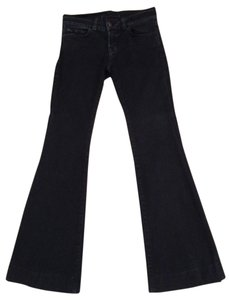 J Brand Bell-bottomed Trouser/Wide Leg Jeans-Dark Rinse