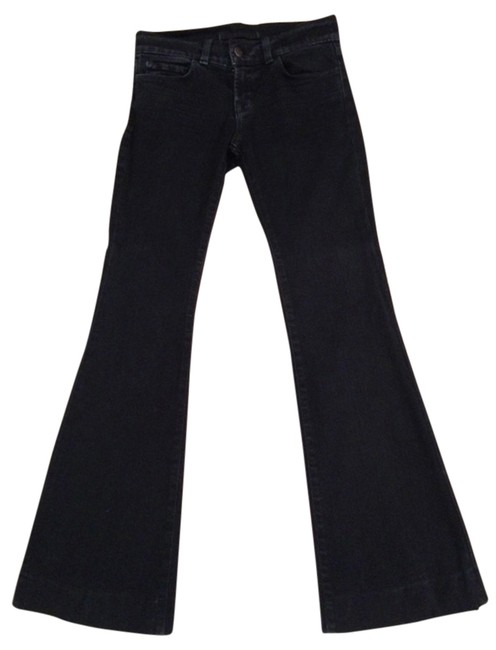 J Brand Bell-bottomed Denim Lovestory Trouser/Wide Leg Jeans-Dark Rinse