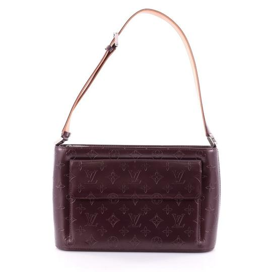 louis vuitton plum vernis mat allston shoulder bag tradesy. Black Bedroom Furniture Sets. Home Design Ideas