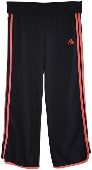 Item - Black with Coral Vintage Cropped - Stripes and Insignia Activewear Bottoms Size 4 (S, 27)