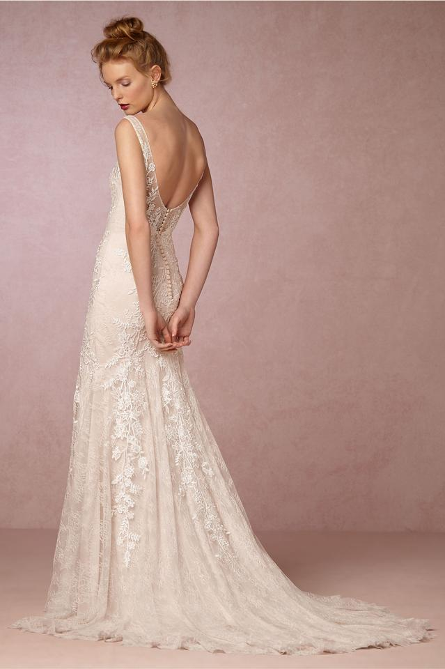 Va et Vien for BHLDN Ivory Polyester Elisha Gown Traditional ...