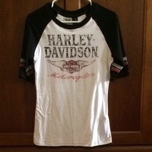 Harley Davidson T Shirt White/black