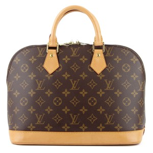 Louis Vuitton Monogram Tote Leather Satchel in Brown