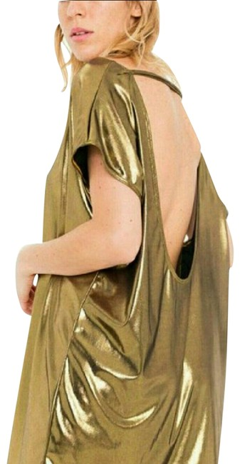 Item - Gold Tunic Blouse Size 6 (S)