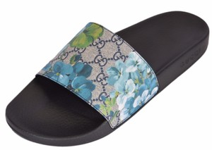 Gucci Men's Blue Blooms Sandals