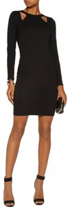 Halston Longsleeve Sheath Cut-out Stretchy Fitted Dress
