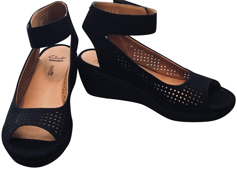62a5689115 Clarks Black Reedly Salene Sandals Size US 7.5 Regular (M, B) - Tradesy