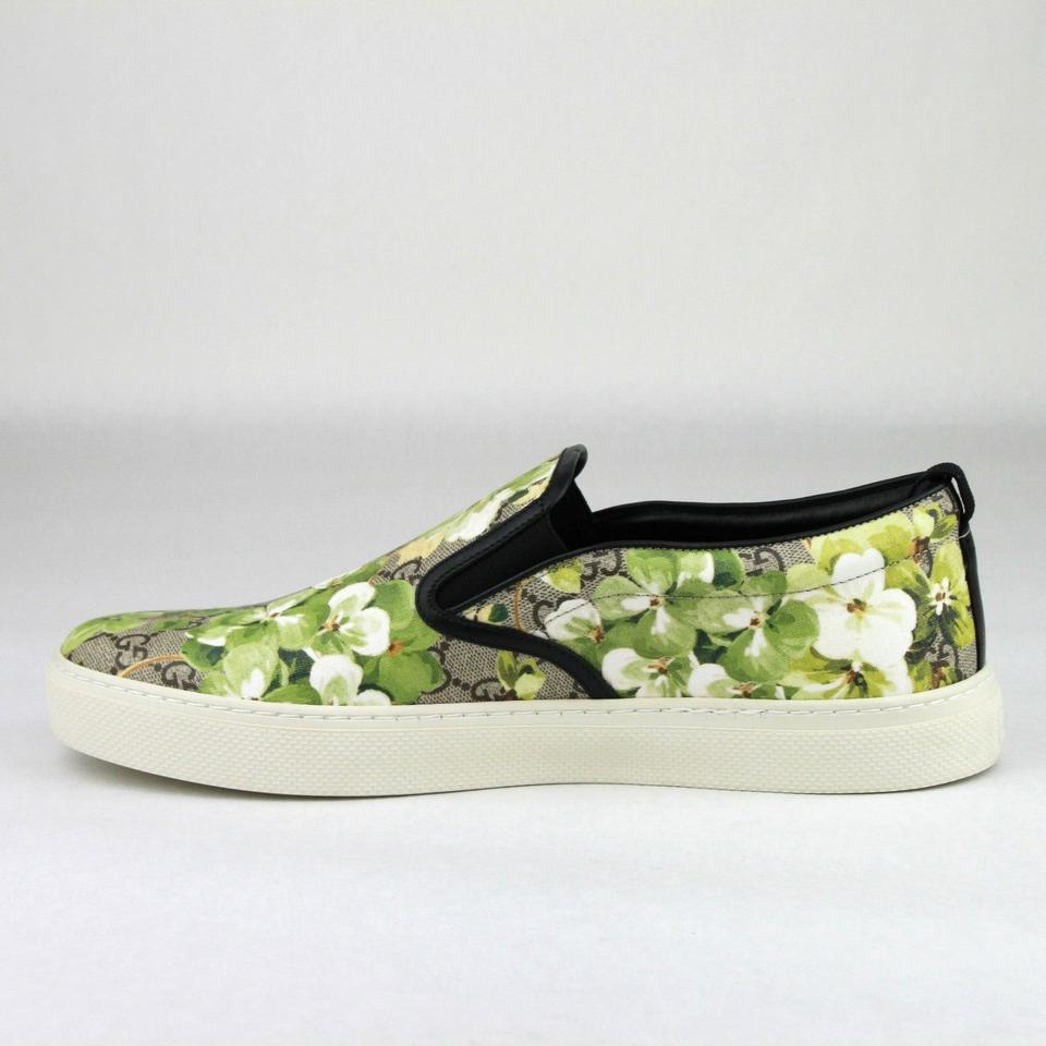 a987b3fdbae Gucci Green Men s  bloom  Print Slip-on Sneaker Flower 10g 11 407362.  123456789