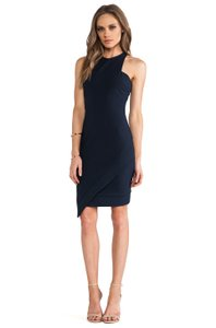 Elizabeth and James Fitted Sheath Stretchy Racer-back Asymmetric Dress