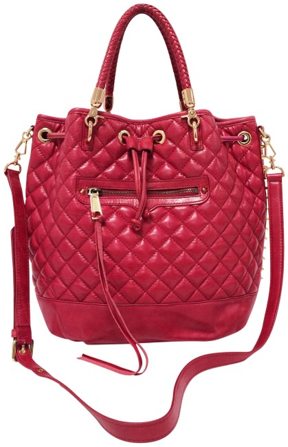 Item - Confessions Drawstring Red Leather Tote