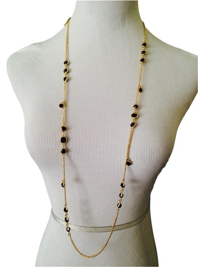 Preload https://item3.tradesy.com/images/kenneth-cole-goldblack-nwot-faceted-stone-station-and-dangle-long-necklace-2248472-0-0.jpg?width=440&height=440