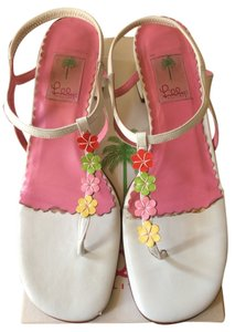 Lilly Pulitzer White And pink Sandals