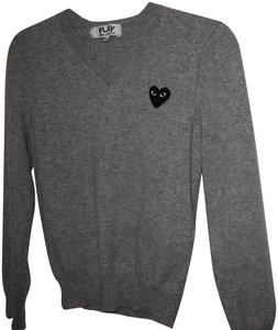 COMME des GARONS Wool Play Embroidered Heart Jumper Sweater