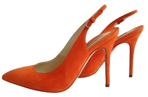 Brian Atwood Suede Point-toe ON SALE Brian Atwood/Orange Pumps