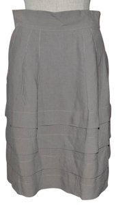 Searle Tiered Layered Flat Ruffle Skirt Gray