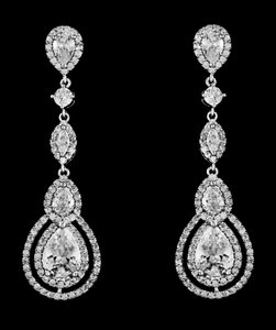 A A A Cz Bridal Earrings