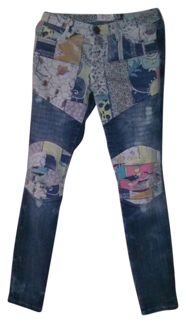 Item - Multicolor Distressed Drifter Contrast Skinny Jeans Size 28 (4, S)