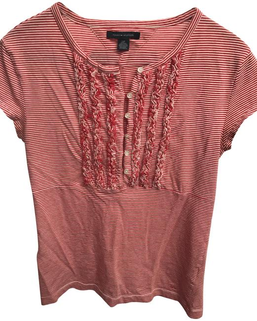 Tommy hilfiger red striped tee shirt size 4 s tradesy for Tommy hilfiger fitzgerald striped shirt