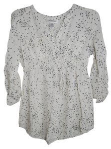 Motherhood Maternity Printed Convertible Sleeve Maternity Tunic