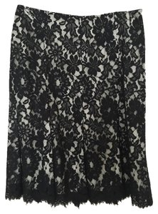 Karen Kane Skirt Black and Cream Lace