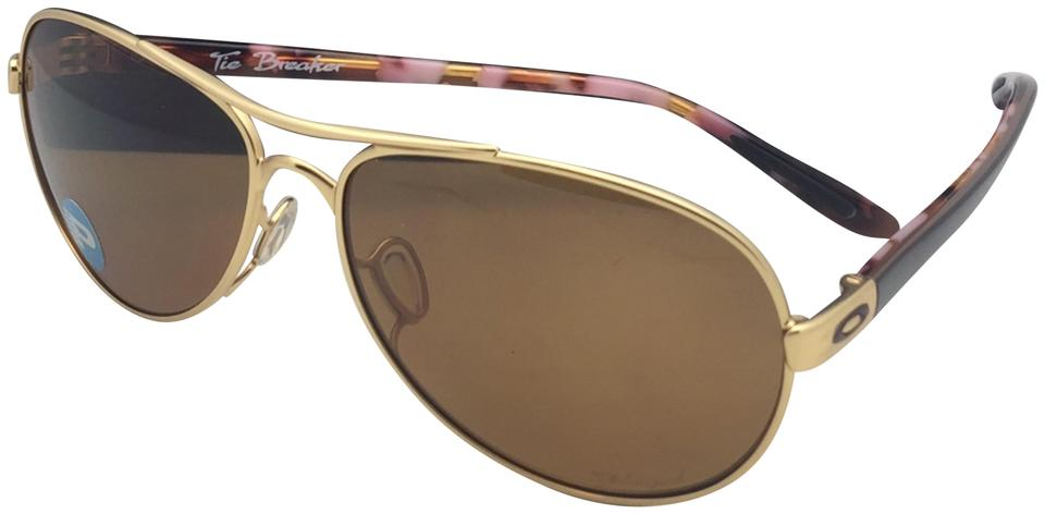 a222df2effc Oakley Polarized OAKLEY Sunglasses TIE BREAKER OO4108-03 Gold   Brown  Aviator Image 0 ...