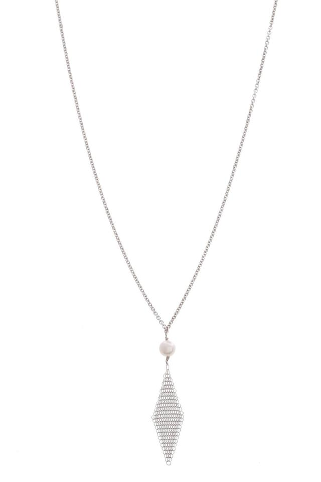 bff160df7 Tiffany & Co. Tiffany & Co. Sterling Silver Elsa Peretti Pearl Mesh Pendant  Necklace ...