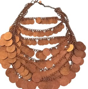 B Lucid Bronze Coin Necklace