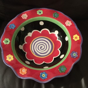 Multicolor Hand Painted Bowl Decoration