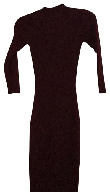 Item - Burgundy. Oxblood Maroon Sweater Mid-length Night Out Dress Size 4 (S)