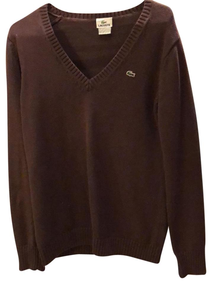 lacoste brown sweater pullover size 8 m tradesy. Black Bedroom Furniture Sets. Home Design Ideas