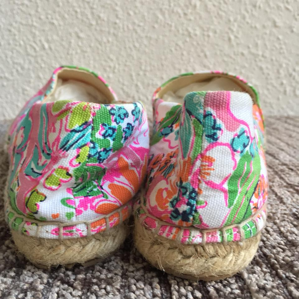 114d21ae538 Lilly Pulitzer for Target Pink Multi Nosie Posey Floral Gold Cap Toe ...