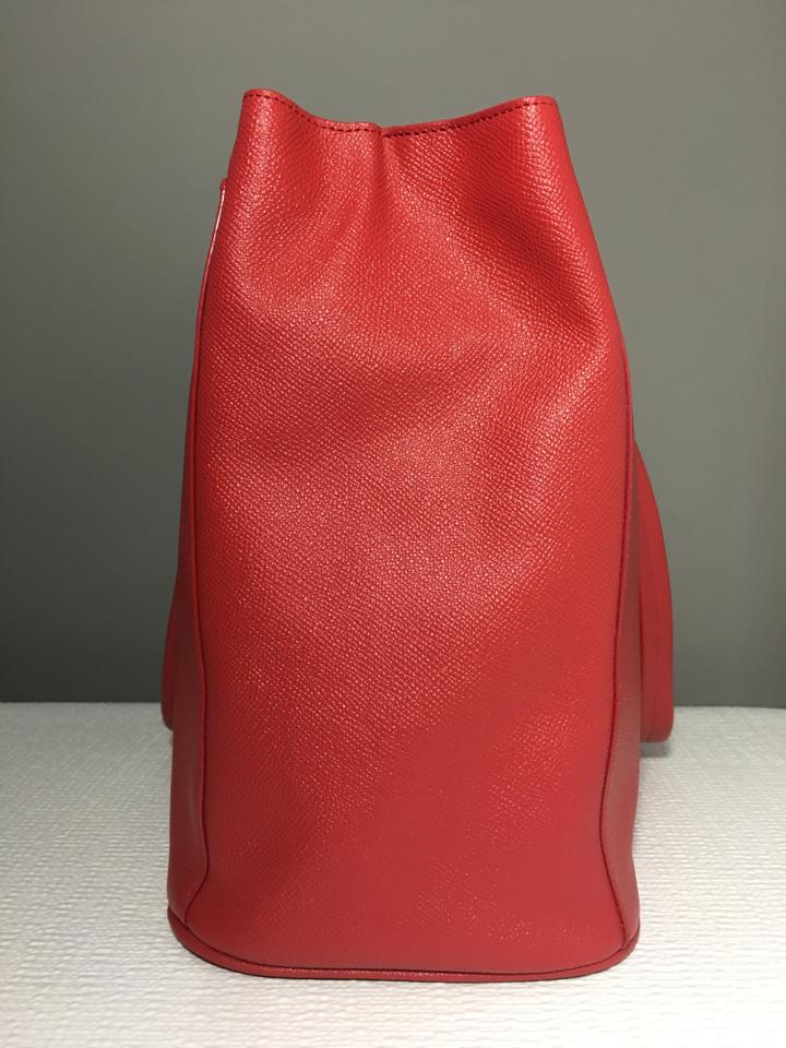 Cole Haan Flight Attendant Exclusive Red Leather Tote
