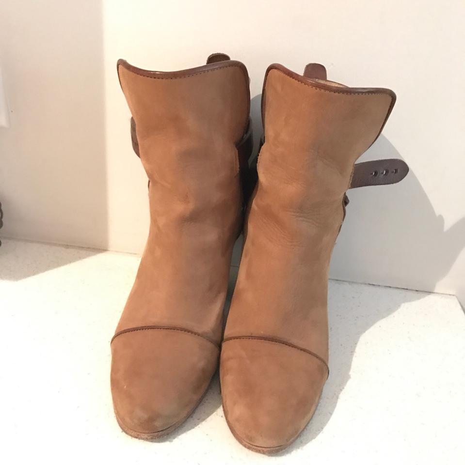 Suede Boots Brown Tan Bone Booties amp; Light Rag Kinsey O7YxABawAq