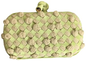 Bottega Veneta green and tan Clutch