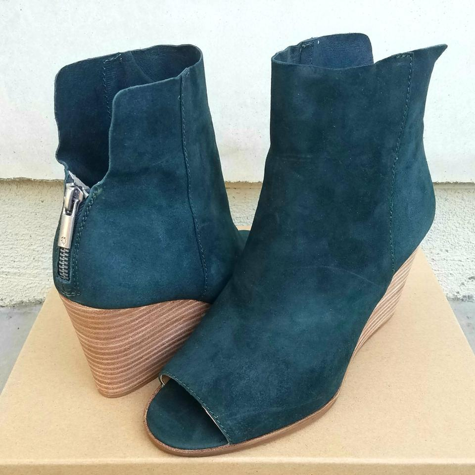 8c36ab75276 Lucky Brand Dark Green Leather Urbi Boots Booties Size US 8.5 ...