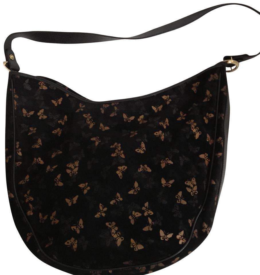 Bottega Veneta Vintage Butterfly Purse Black Suede Hobo Bag - Tradesy a03281d4f90b